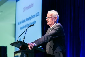 Mr John Fullerton, Managing Director & CEO, Australian Rail Track Corporation. Day 2. ALC Forum 2014. Australian Logistics Council. Royal Randwick Racecourse. Sydney. Photo: Pat Brunet/Event Photos Australia