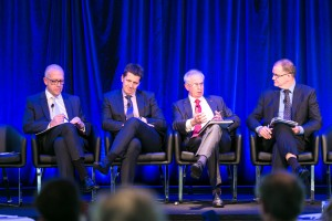 Michael Kilgariff (Session Chair), Mr Simon Ormsby, Mr Ian Hunt, Mr Paul Retter, Day 2. ALC Forum 2014. Australian Logistics Council. Royal Randwick Racecourse. Sydney. Photo: Pat Brunet/Event Photos Australia